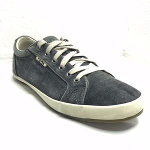 TAOS Star Sneakers Shoes Black Distressed Canvas